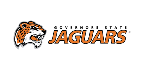 Governors State Jaguars athletic logo featuring an illustration of a snarling jaguar