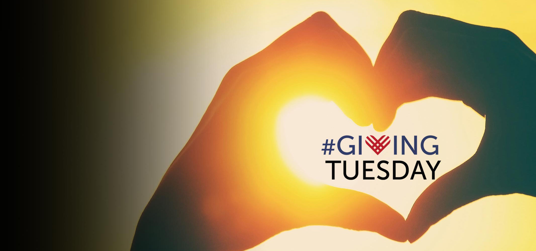 hands shaped like heart for giving Tuesday