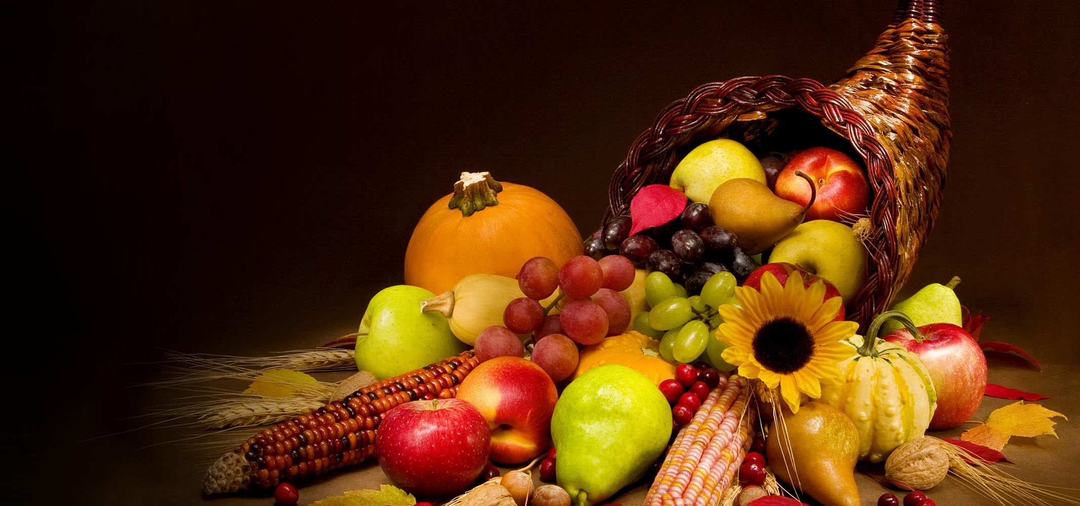 Happy Thanksgiving image with fall items