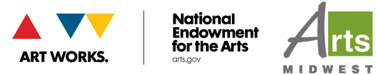 Arts Midwest and NEA Logo lockup