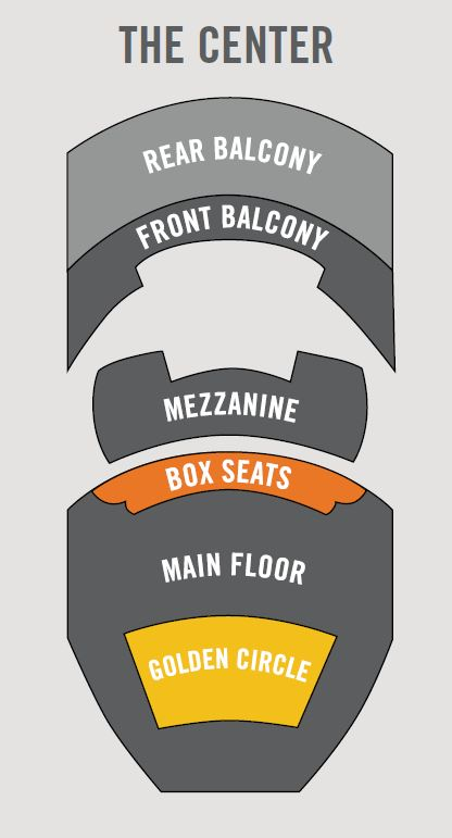 Seating Chart with Golden Circle Seating