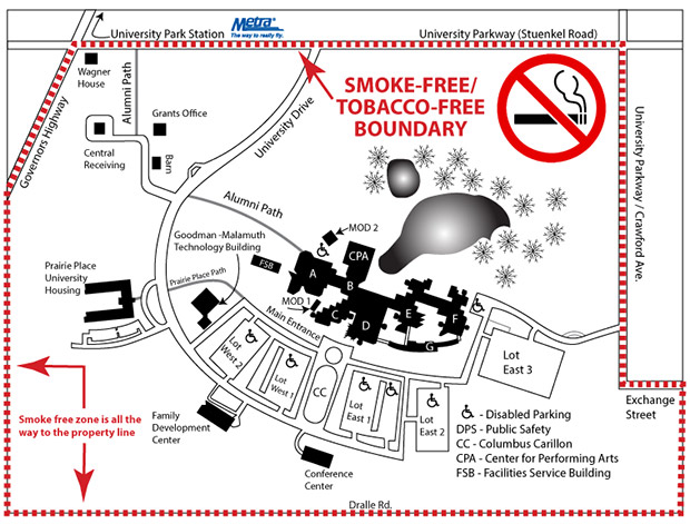 GSU Smoke Free Campus Boundaries