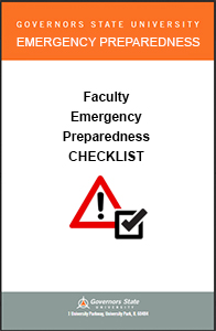 Faculty Emergency Preparedness Checklist