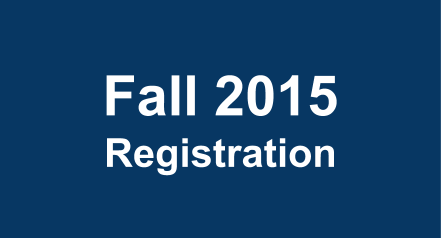Fall 2015 Priority Registration Now Open