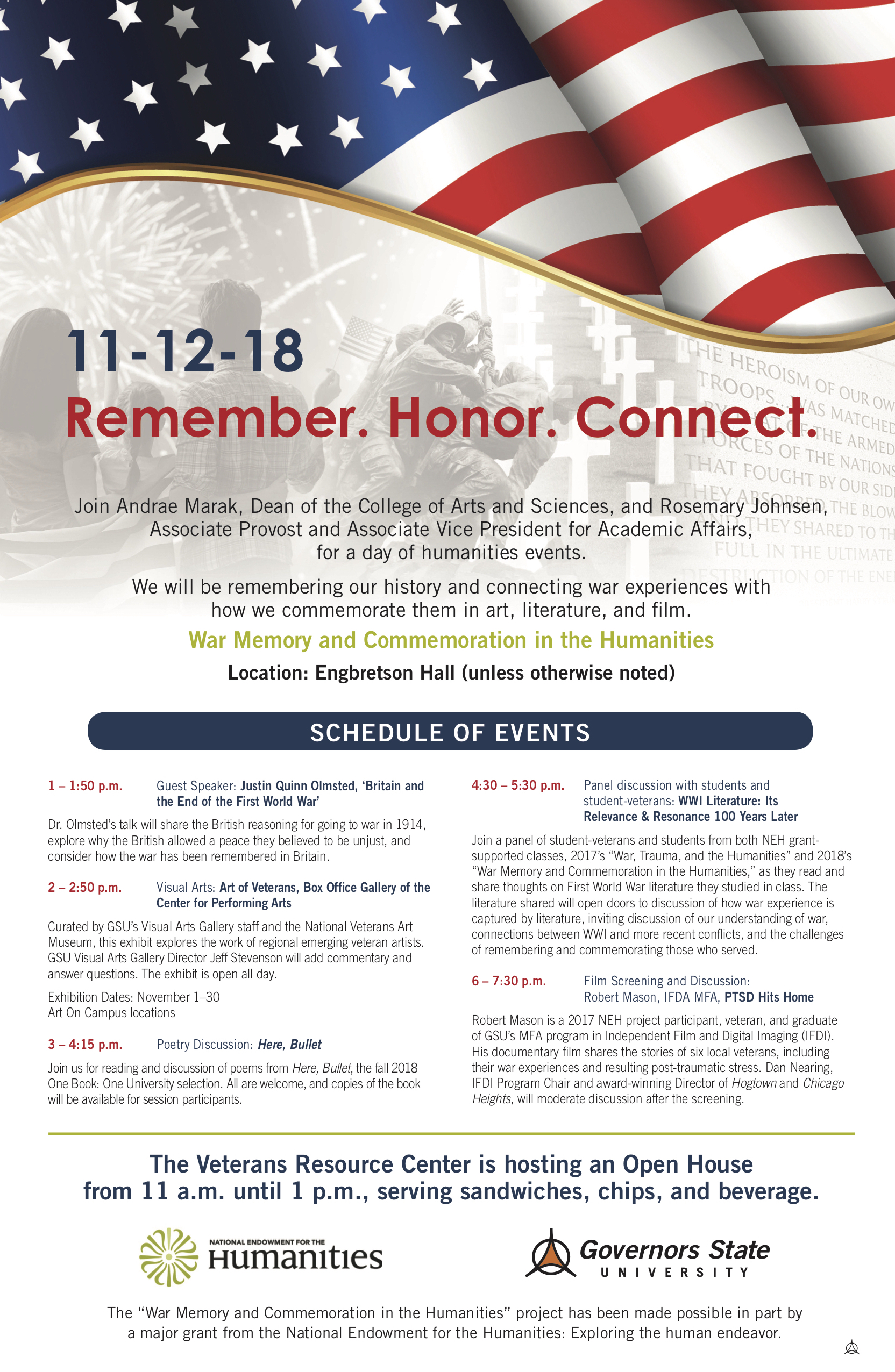 NEH Veteran's Day events 2018(1)