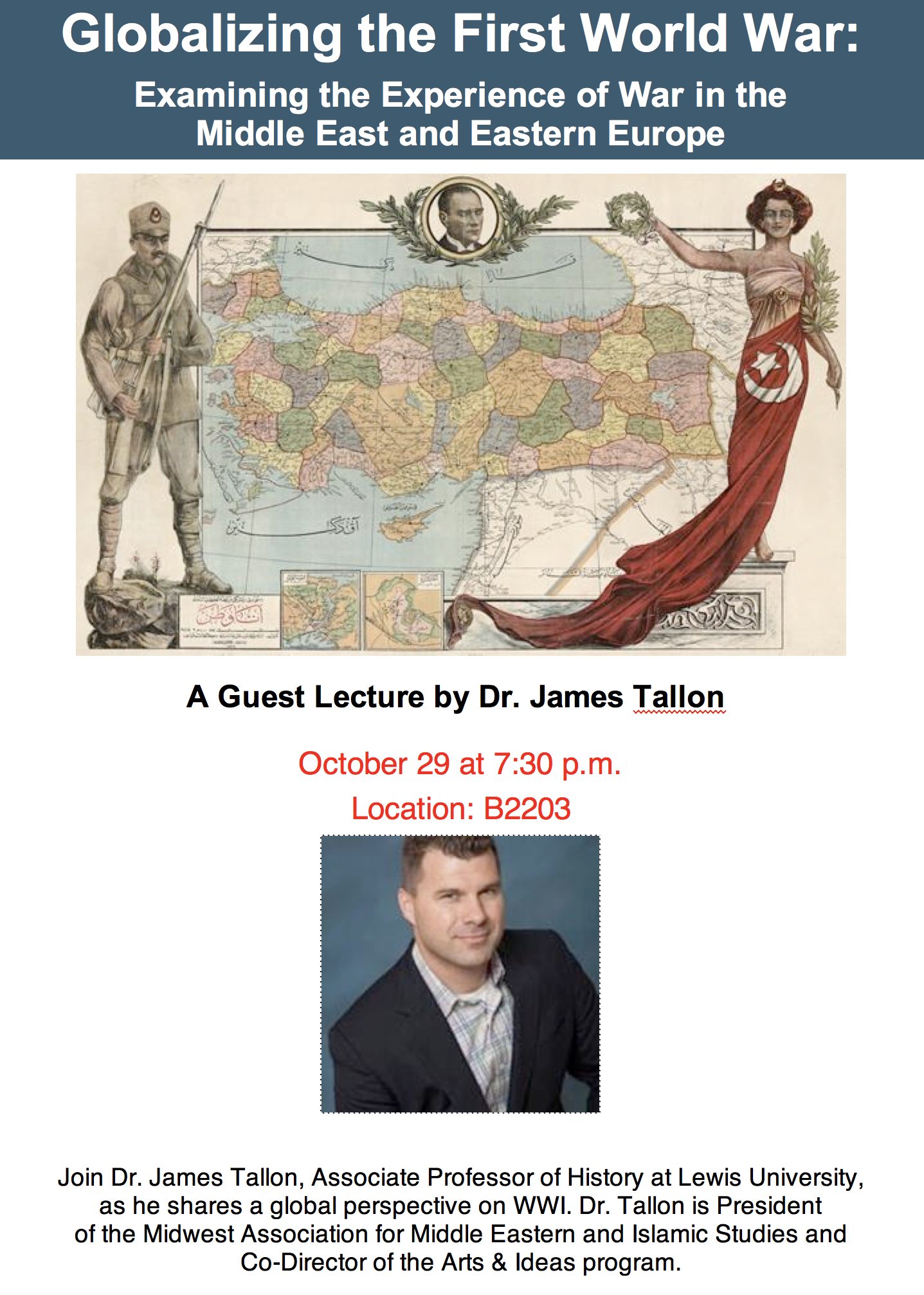 NEH Guest Lecture - 2018 - James Tallon
