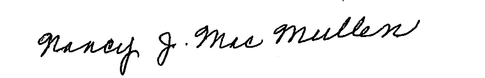 Nancy MacMullen signature