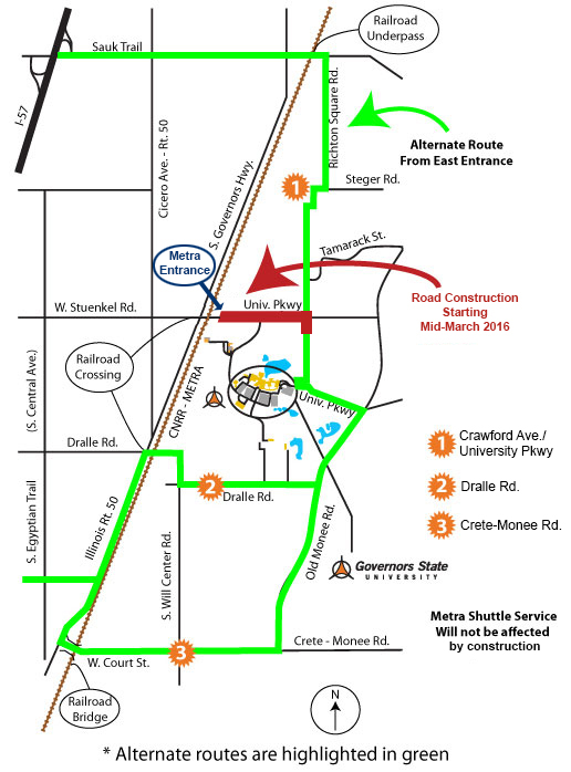 I-57 Construction Alternate Routes
