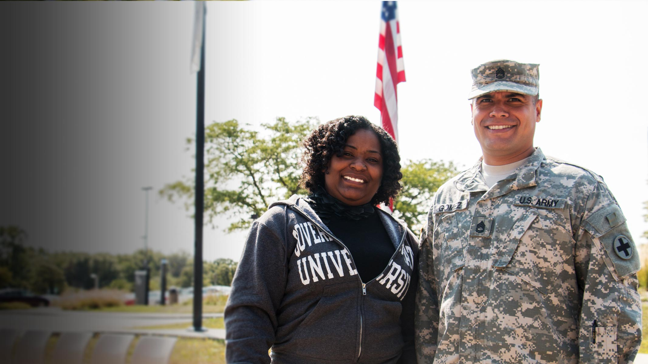GSU Veterand Military Personnell at GSU's campus