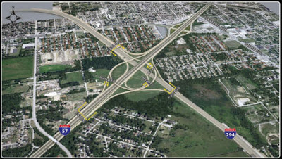 I-294 and 1-57 Interchange