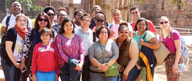 GSU students and faculty posing in India