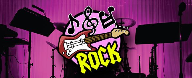 School of Rock logo on drumset