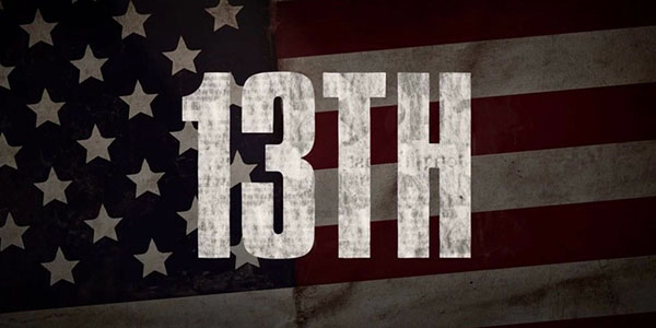 '13th' Title Screenshot for the documentary is shown