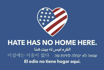 Hate Has No Home Here in different languages
